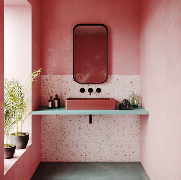 Pink Bathrooms With Terrazzo Elements Plus Deco Interior