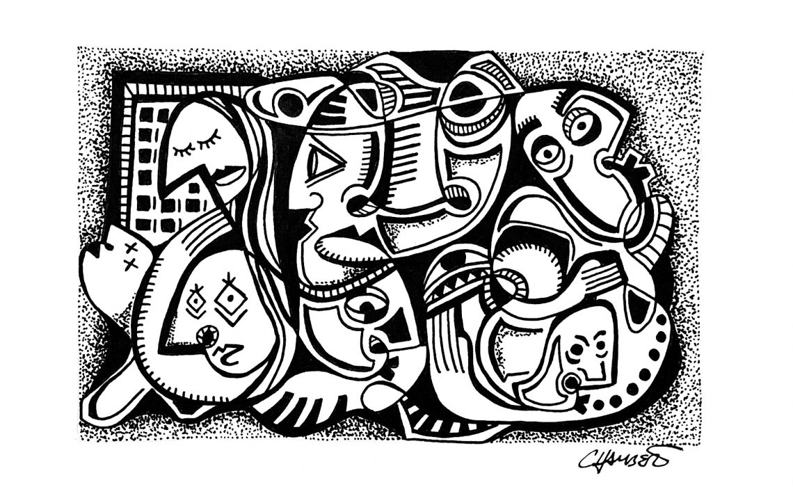 jason chambers art. jason chambers, plus deco blog, ink drawings, surreal drawings, black and white art, picasso inspiration